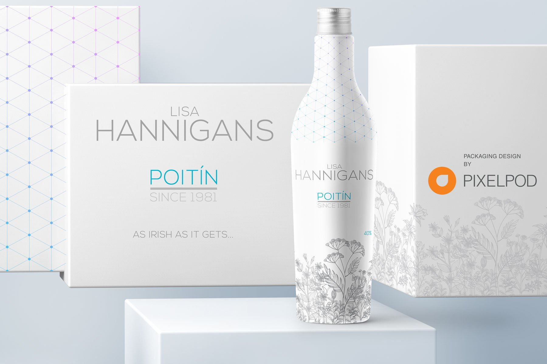 Lisa Hannigan poitin, packaging design by pixelpod