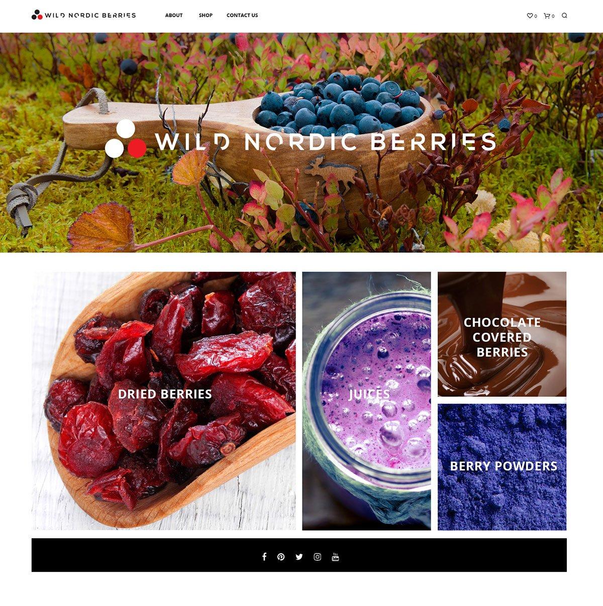 Wild Nordic Berries website designed by pixelpod