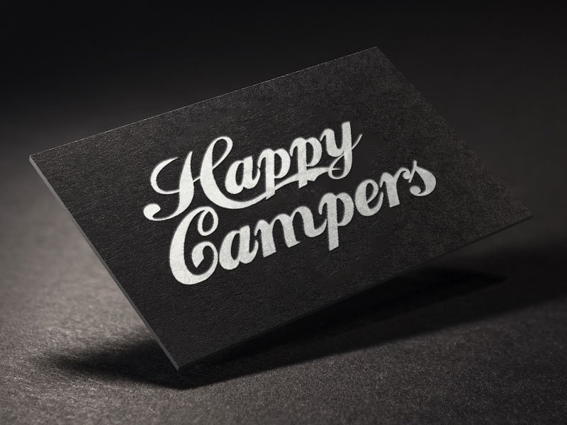 Happy Campers Business Card Design