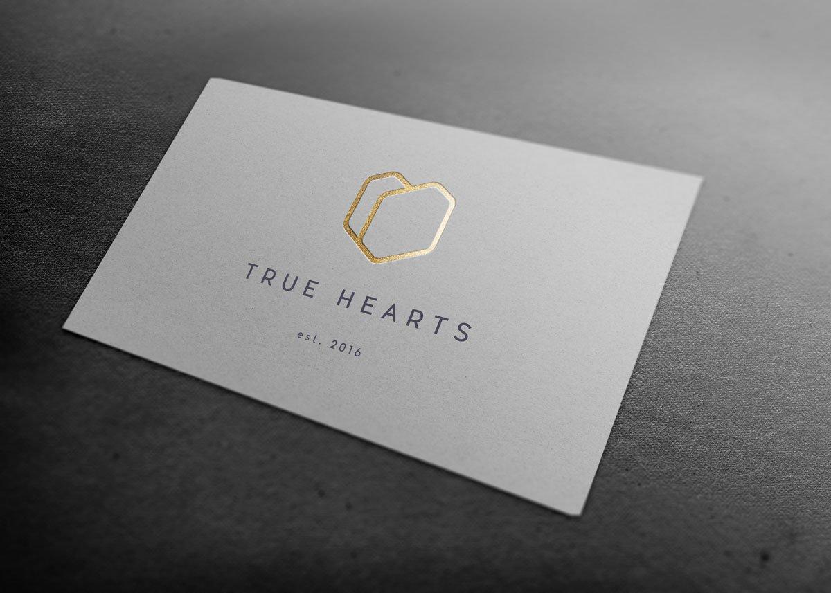 logo design wexford pixelpod true hearts branding
