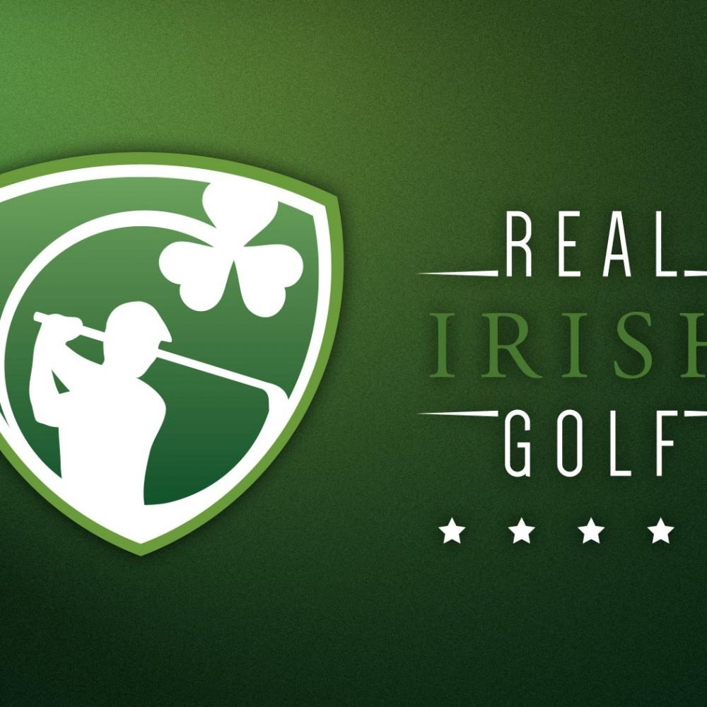 real irish golf logo and business card design wexford. Pixelpod graphic design and branding in wexford.
