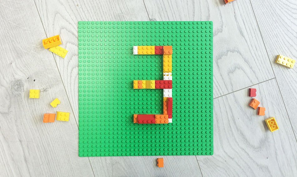 Pixelpod 3 years in Wexford made with lego