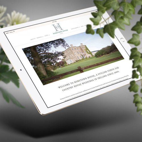 horetown house ipad landscape website design
