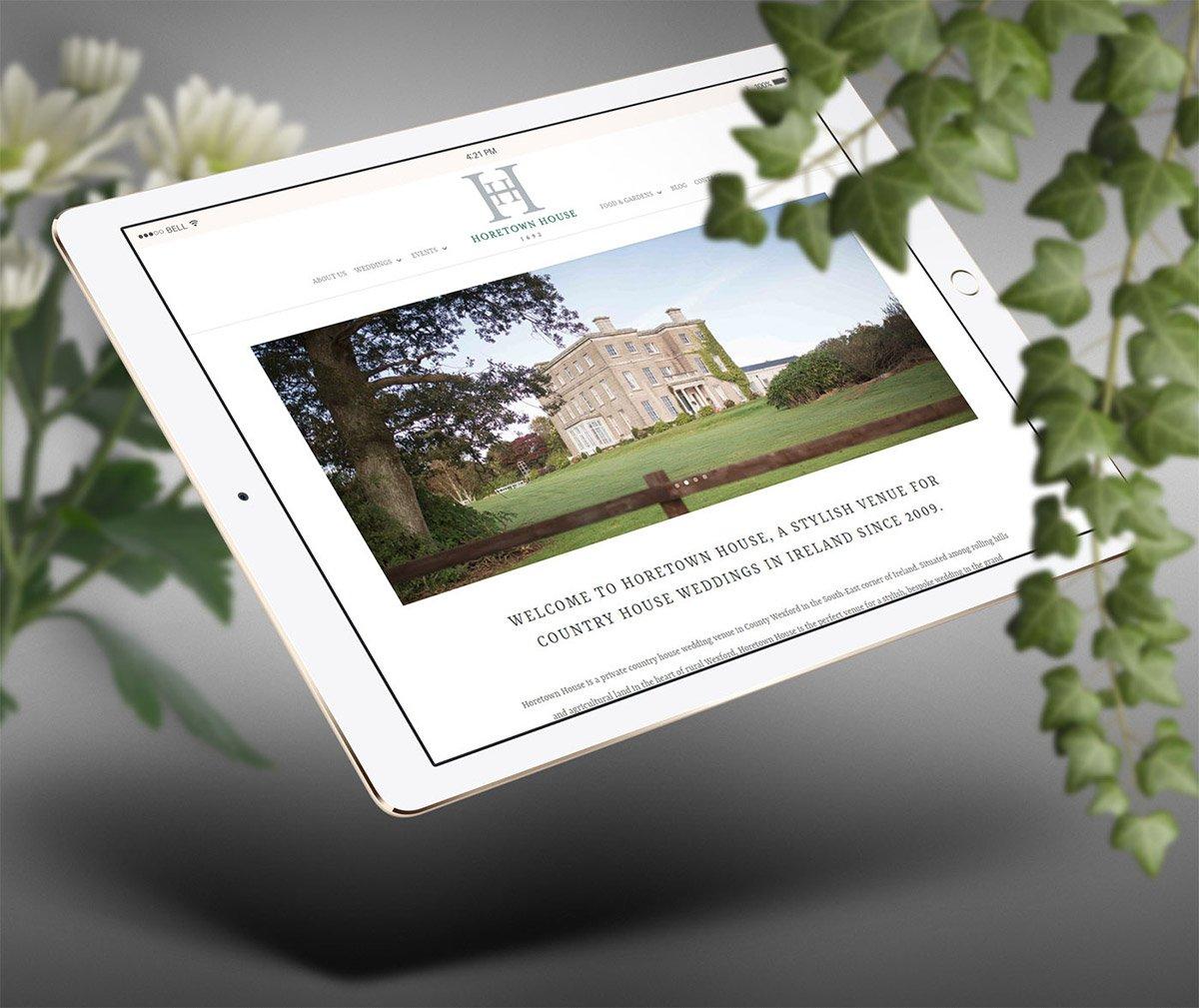horetown house ipad landscape website design