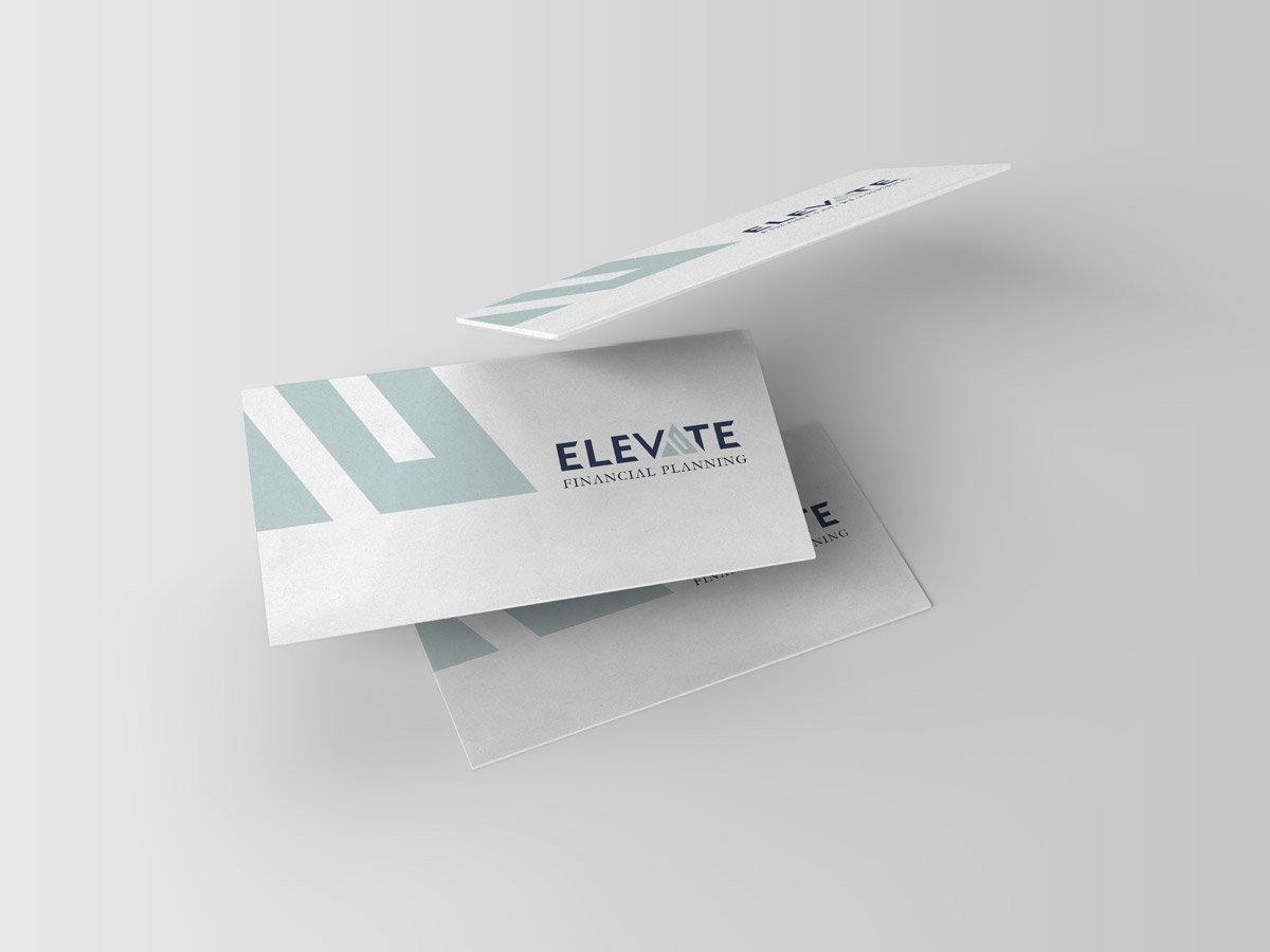Elevate Financial Planning branding and logo design wexford. Graphic design, web design, branding Wexford.