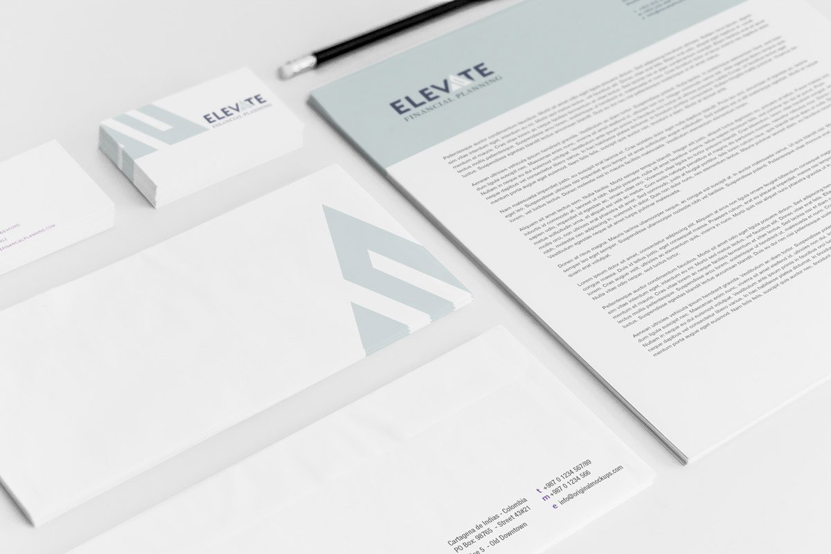 elevate financial planning wexford branding logo design