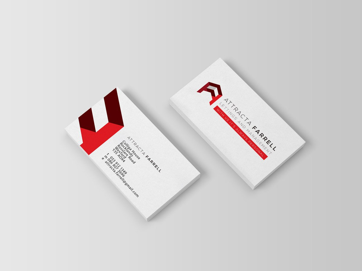 pixelpod attracta farrell business card logo design
