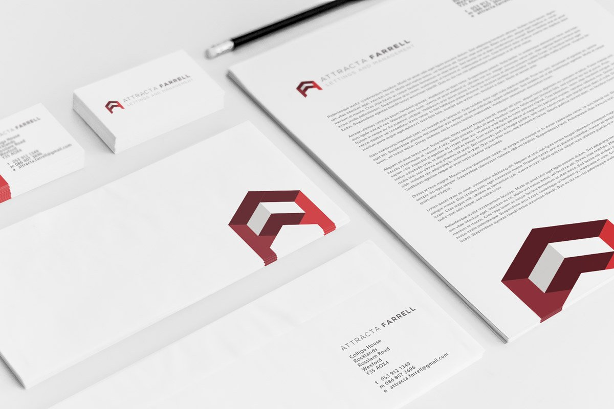 Attracta Farrell branding and logo design wexford. Graphic design, web design, branding Wexford.