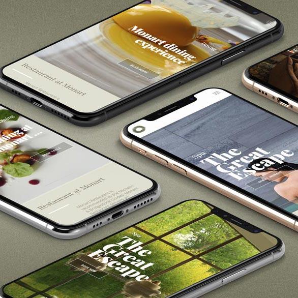 monart website design mobile view