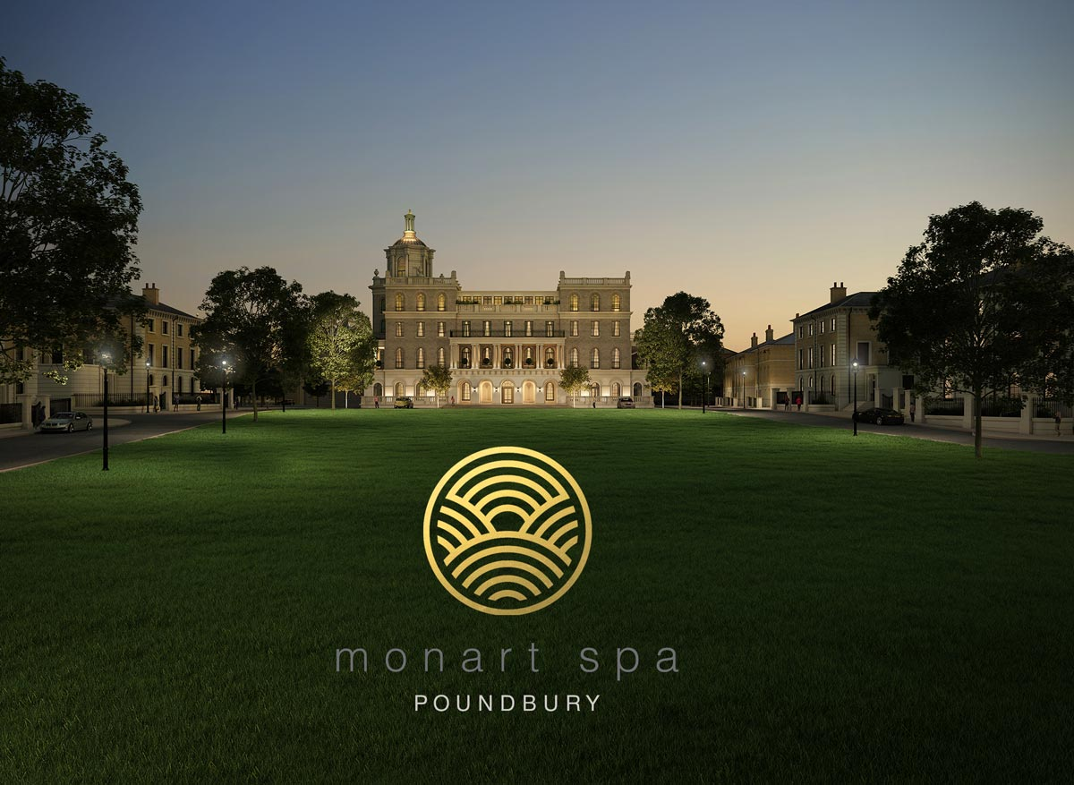 Monart Poundbury logo and branding design wexford. Pixelpod graphic design and branding in wexford.