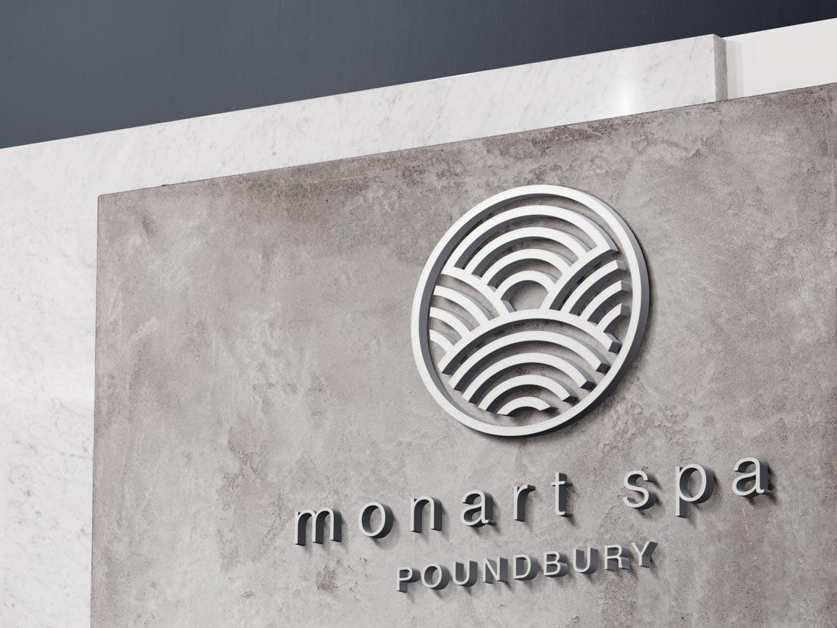 monart spa poundbury signage