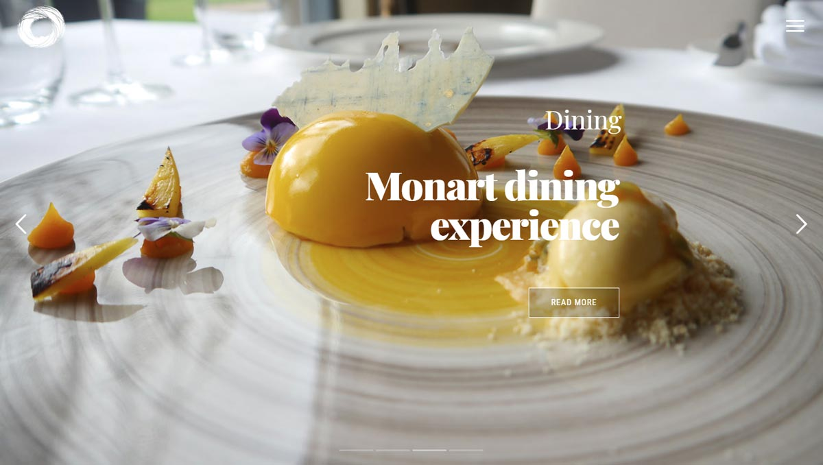 monart website design