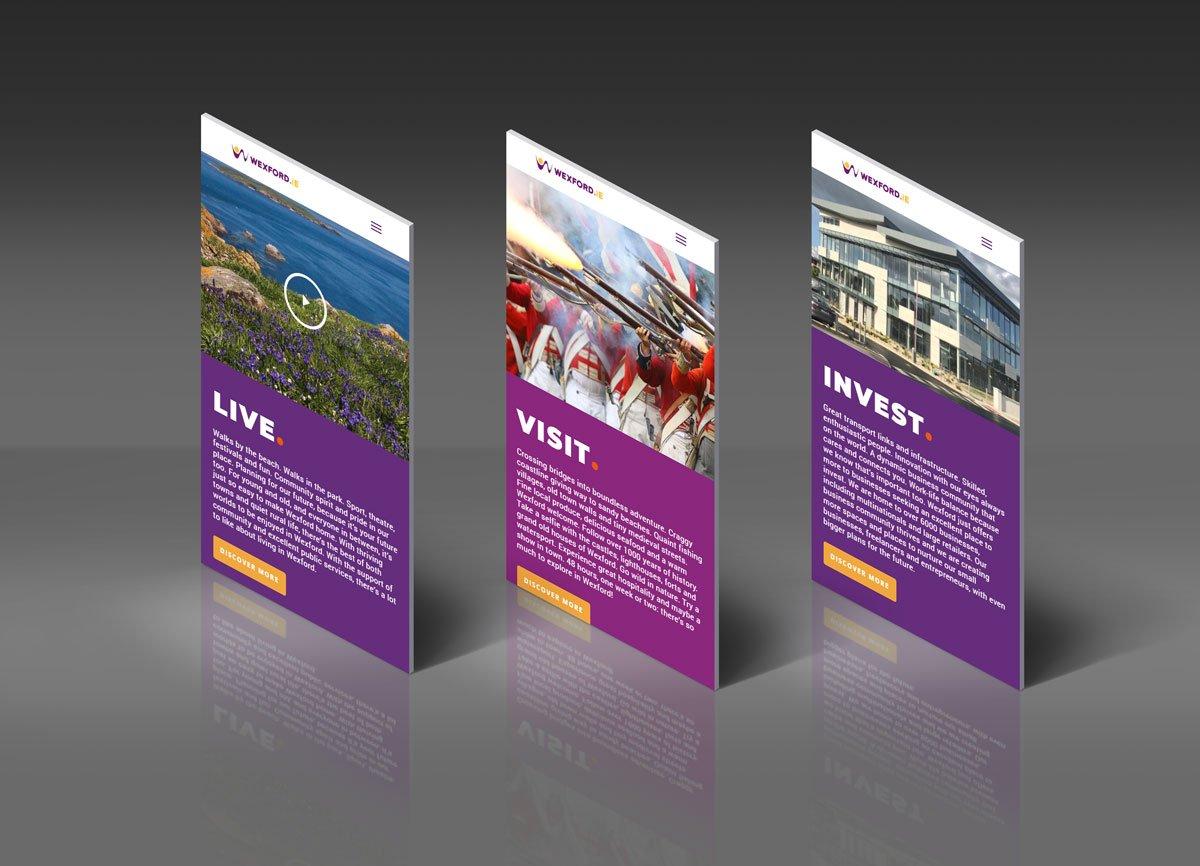 App Screens wexford web design by pixelpod