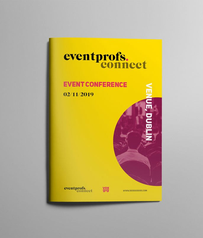 eventprofs a4 brochure design