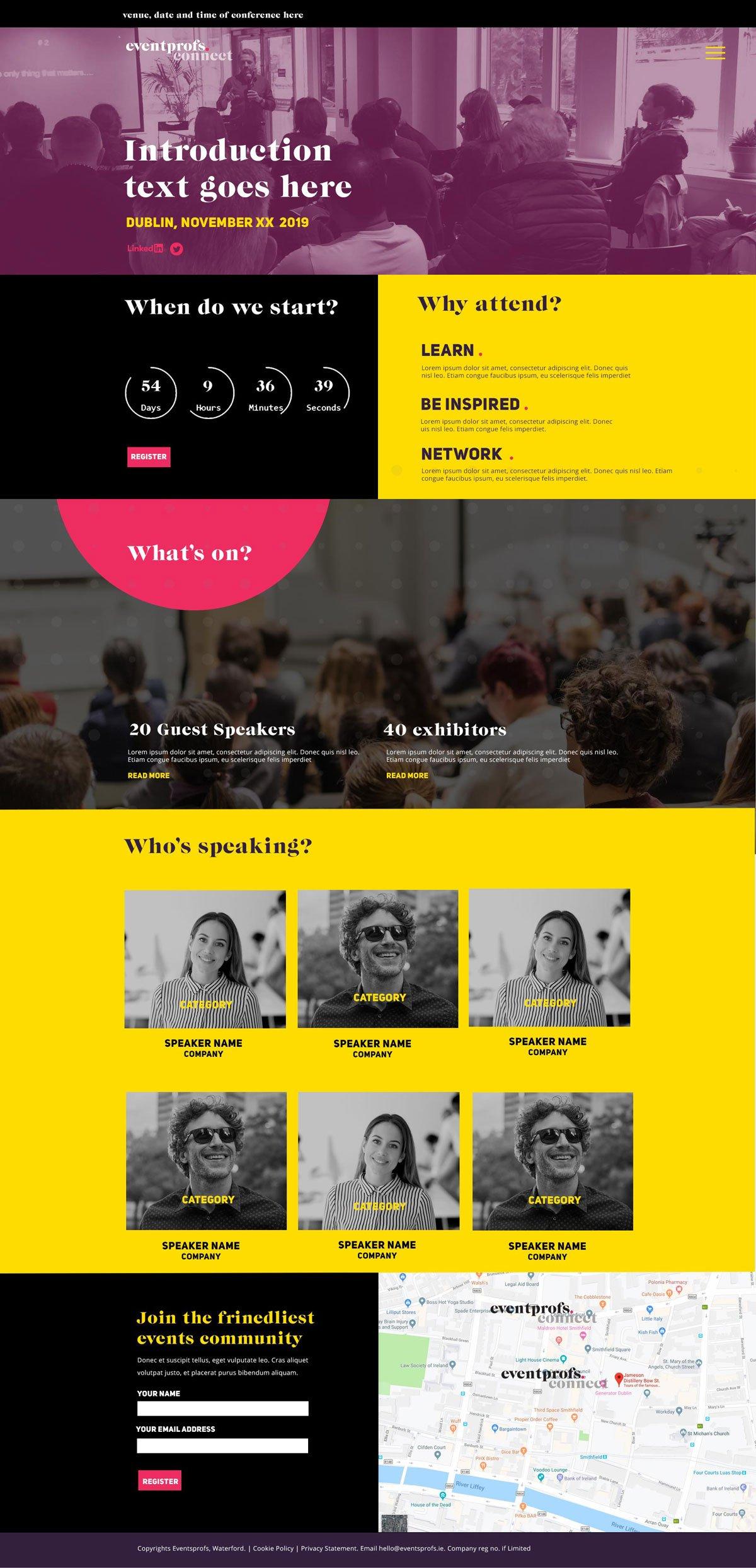 eventprofs website design visuals wexford ireland