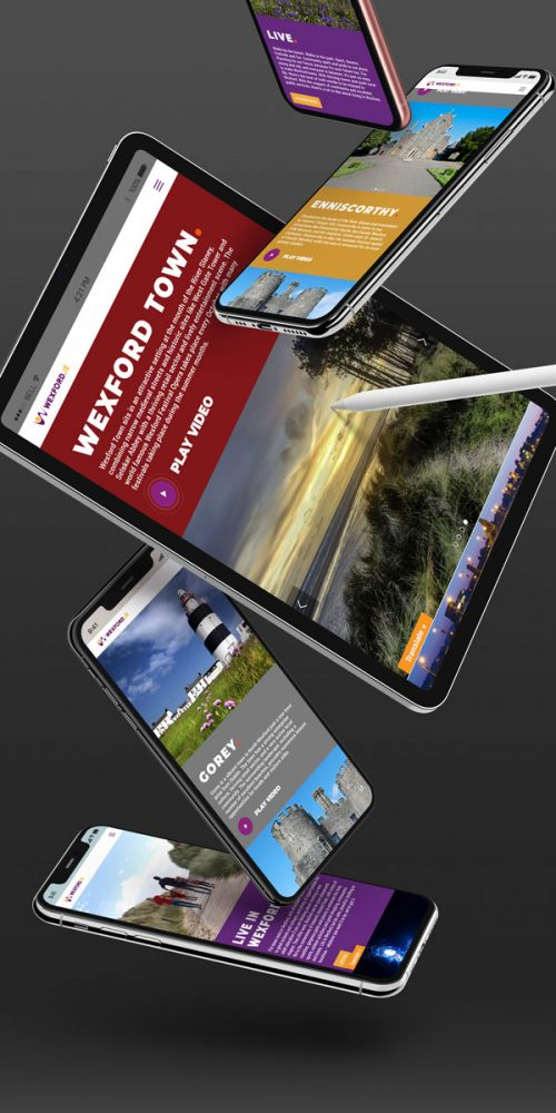 ipad iphone wexford website design portrait