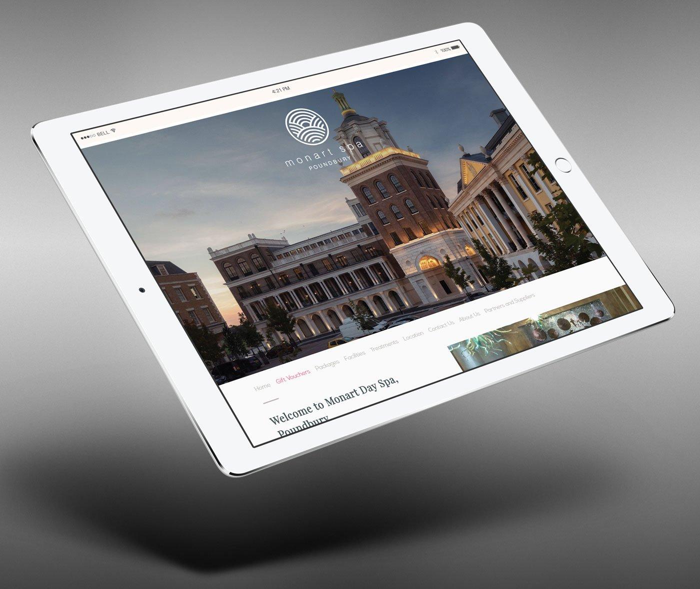 monart poundbury website mobile ready homepage by pixelpod