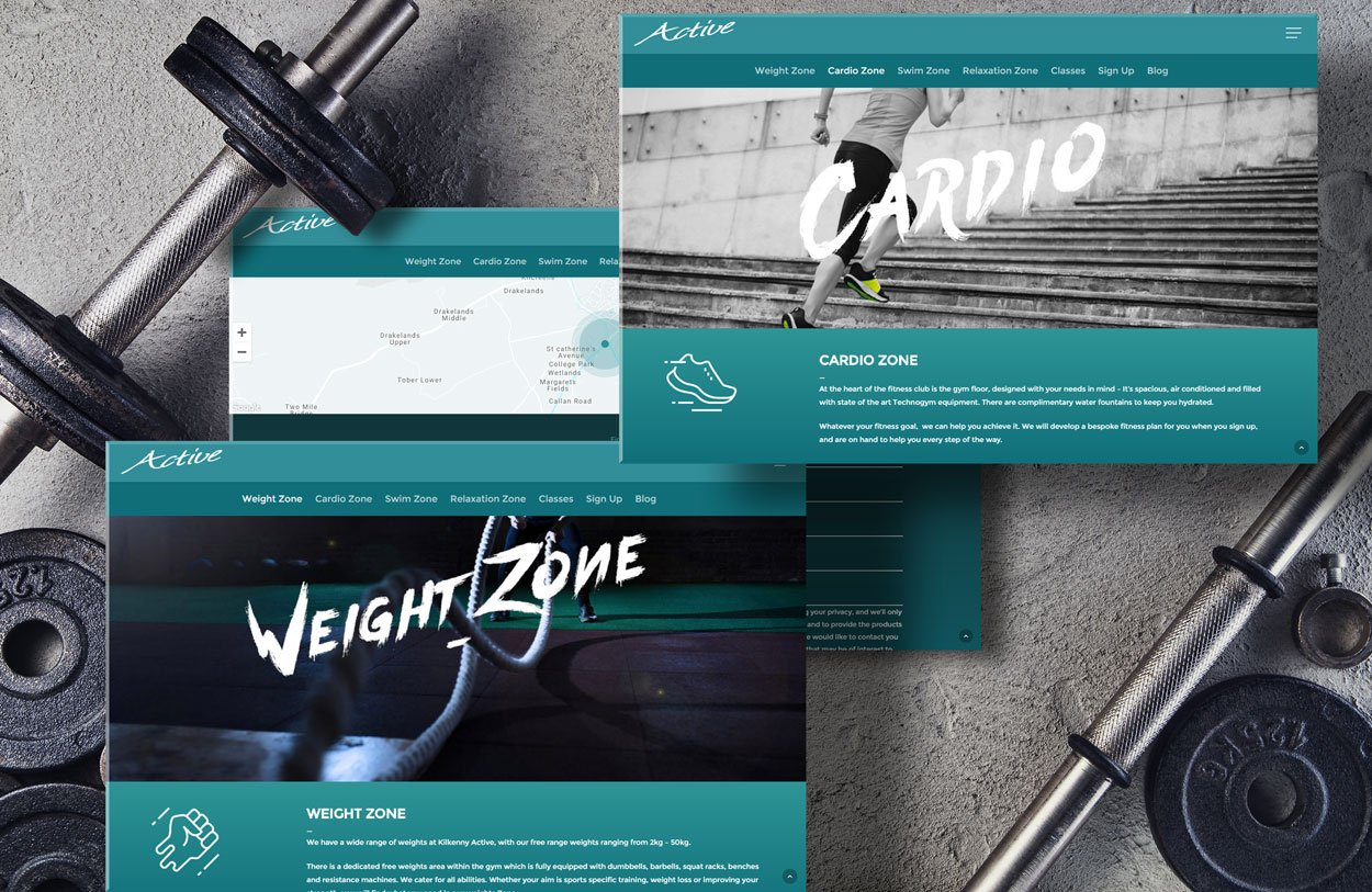 active club website design by pixelpod mobile cover