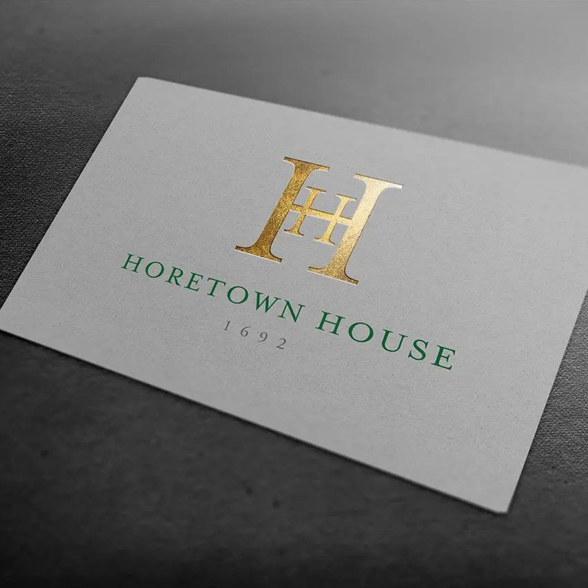 horetown house wexford business card design and logo design