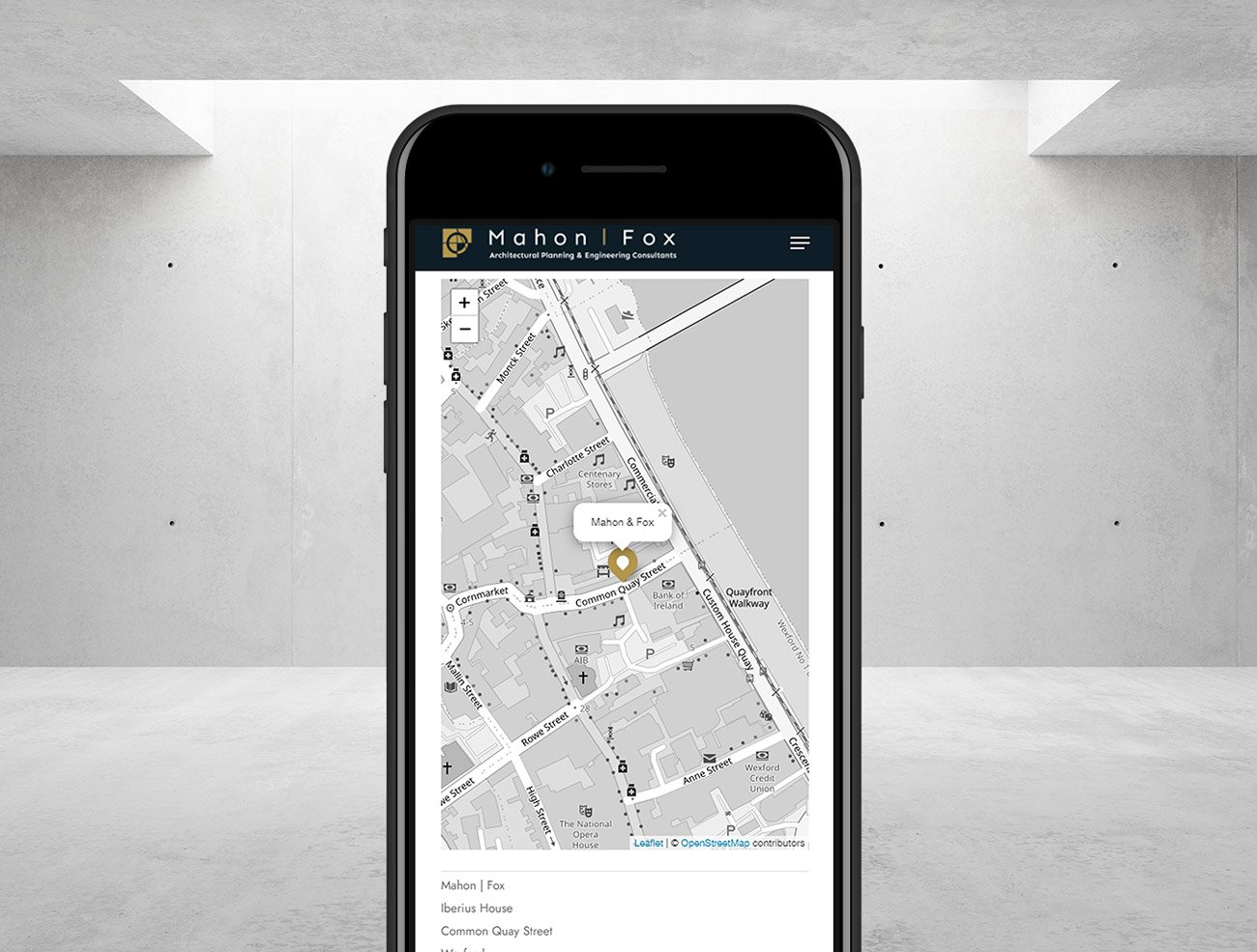 website design wexford mahon fox architects mobile ready