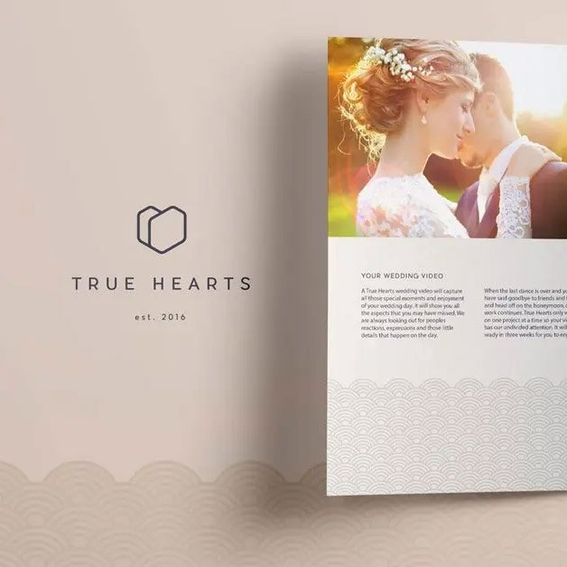 true hearts logo design